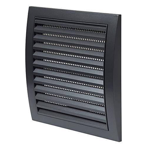 150 x 150mm Anthrazit Lüftungsgitter Abschlussgitter Insektenschutz ABS Gitter Abluftgitter Zuluft Abluft -
