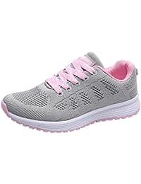 Zapatos Mujer,Las Mujeres de Malla de Moda Ronda Cruzada Correas Planas Zapatillas Zapatillas Deportivas
