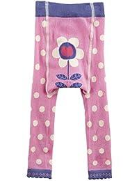 Piccalilly medias de algodón rosa orgánicas sin pies con manchas