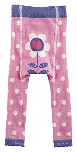 Piccalilly Bio-Baumwolle Rosa Mädchen Gepunktete Fußlose Strumpfhose (Bio-baumwoll-strumpfhose)
