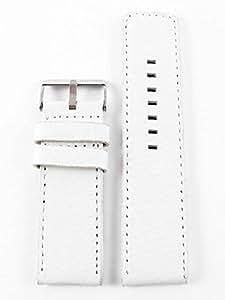 Oozoo OA-01-26 - Bracelet pour montre, cuir, couleur: blanc