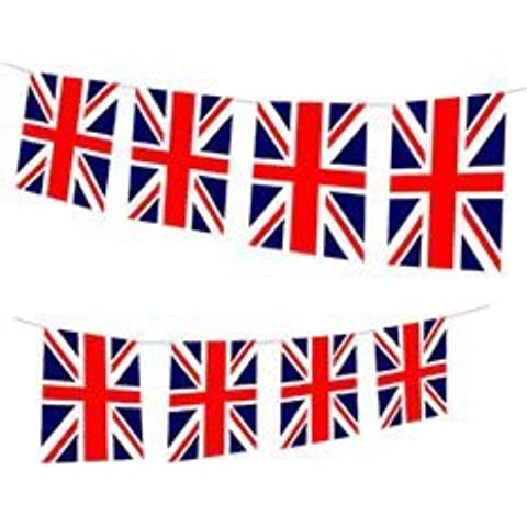 Union Jack Flag Bunting (2.4m, quality paper) by Pams