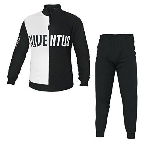 Juventus Schlafanzug Juve offizieller Overall f/ür Jungen und Herren Gr Grau Melange, M S M L XL XXL JU4088