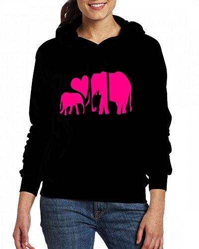 Africa safari animal elephants Womens Hoodie Fleece Custom Sweartshirts Black