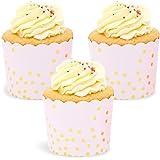 Sparkle and Bash Konfetti Cupcake-Förmchen, Roségold, 50 Stück