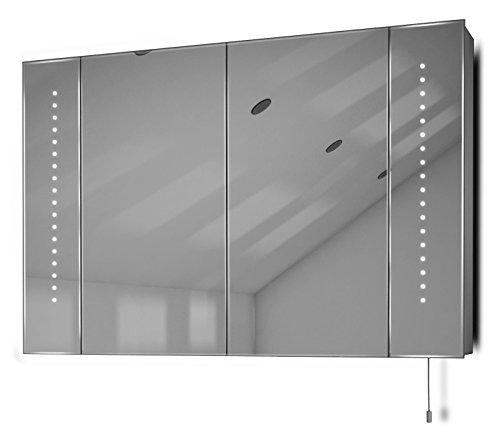 Spiegelschrank mit Batteriebetrieb - 90 cm
