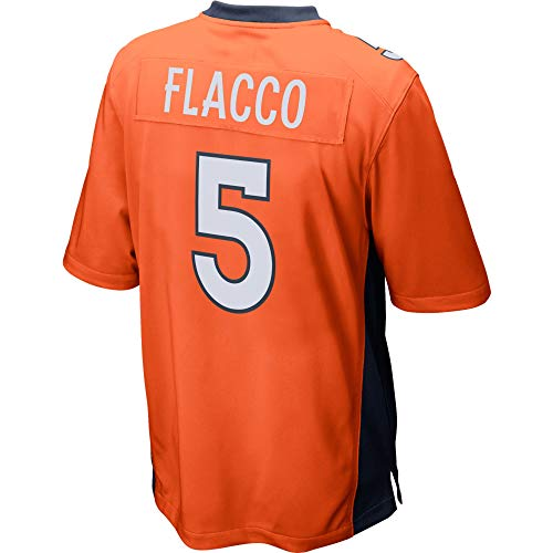 JEMWY Damen/Herren_Joe_Flacco_Orange_Sportbekleidung_Fußball_Spiel_Jersey Joe Flacco Jersey