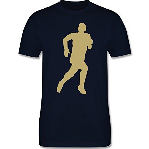 Laufsport - Laufen - Herren Premium T-Shirt Navy Blau