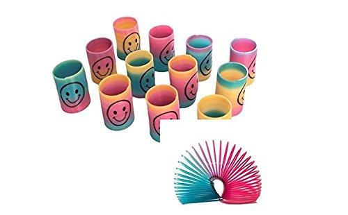 Mini Smiley Springs Party Tasche Füllstoffe Hochzeit Kinder Spielzeug Preis Halloween Weihnachten ()