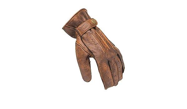 Gants de Moto port/és /à la Mode Scrambler Leather CE Couleur Marron Taille 2XL LW305