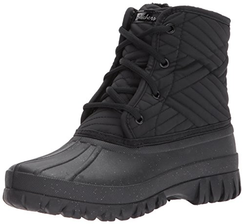 Skechers Damen Windom Stiefel, Schwarz (Black), 40 EU (Skechers Stiefel Fashion)