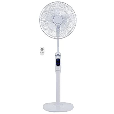 EcoAir Low Energy DC Fan with 35 Speed/Timer Function, Wireless Remote Control, 16-Inch, 27 Watt