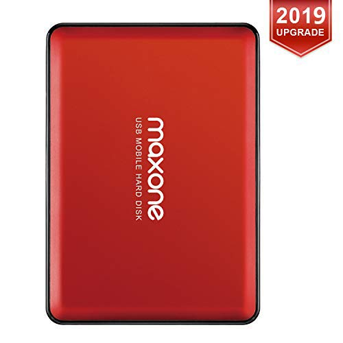 320Go Disque Dur Externe Portable 2.5' USB3.0 Stockage HDD pour PC, Mac, MacBook, Chromebook, Xbox One, Xbox 360, PS4, PS4 Pro, PS4 Slim (Rouge)