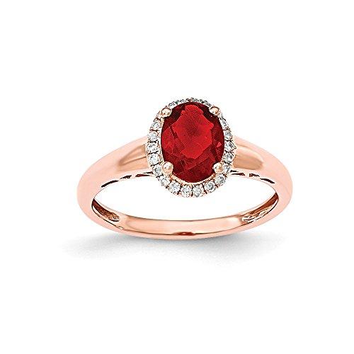 Ring 14 Karat Rotgold Feueropal Diamant 0,93 Karat