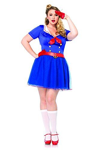 Kostüm Ahoy Sailor - Leg Avenue 85290X - Ahoy There Honey Kostüm Set, 2-teilig, Größe 48-50, blau