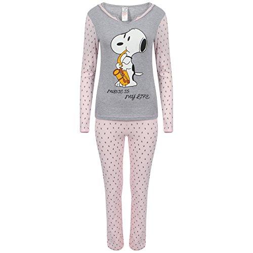 52a3bebb Snoopy - Pijama de manga larga para mujer, con diseño de Mickey Mouse  multicolor Snoopy 'Music Is ...