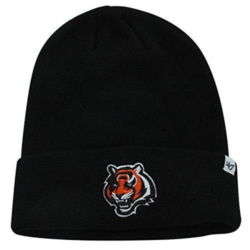 Fußball-fußball-beanie-mütze (47 Brand Schwarz Cuff Beanie Mütze-NFL Cuffed Fußball Winter Knit Toque Gap, Herren Unisex Damen, Cincinnati Bengals - Logo)