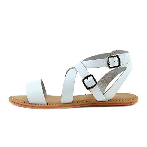 Kick Footwear - Moda Donna Estate Casual Sandali Scarpe Di Cuoio Naturale Bianco