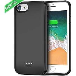 FLYLINKTECH 6000mAh Coque Batterie pour iPhone 6/7/6s/8, Batterie Externe Rechargeable Chargeur Batterie et Etui Téléphone Portable 2 en 1 Power Bank Backup Chargeur Protection pour iPhone 6/6s/7/8