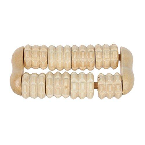 zcsmg Praktische Finger Arm Fuß Pflege Holz Dual-Zeilen Roller Massagegerät für ältere Geschenk - Dual Fuß-massagegerät