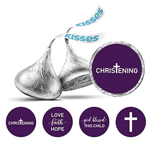 Darling Souvenir Taufe Thema Aufkleber Packung mit 190 Stück Hershey Kisses Schokolade Labels-Lila
