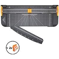 Pachock Cortadora de Papel Titanio 12 inch A4 de Titanio con Automático de Seguridad Salvaguardar y Slide Regla Diseño para Cupón Craft etiqueta de Papel o foto, 2 Cuchillas Included