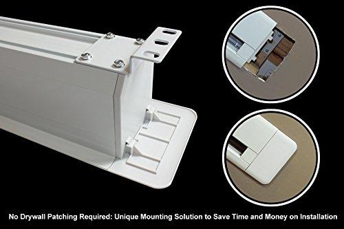 41D l1KEbmL - HiViLux para empotrar en techos hipertensión Motor lienzo UHD 4 K/3D/Full HD/ganancia 1,0 tela blanca profesional cine diapositiva/solo 13 cm instalación altura/con mando a distancia