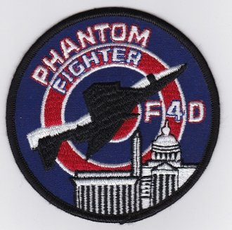 "Écusson brodé Ecussons Thermocollants Broderie Sur Vetement Ecusson ""USAF Patch ANG Fighter 121 TFS Tactical Fighter Sqn F 4 Phantom 104 mm,,"