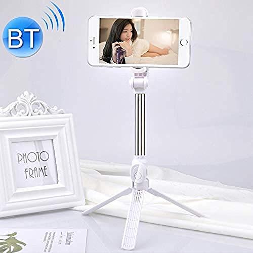 Selfie-Stativ XT10, multifunktional, mobiler Live Broadcast, Bluetooth, Selbstauslöser, Stativ, Schwarz (Farbe: Weiß) weiß -