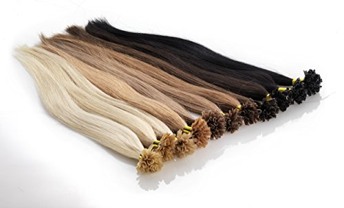 Echthaar Keratin / Bonding Extensions Frohlocke SALON PRO, Haarlänge 60cm, 1,0 Gramm / Strähne, 25 Strähnen Haarqualität: Virgin Remy - höchste Qualitätsstufe (02 - dunkelbraun)