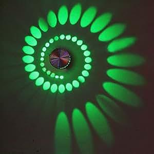 3W moderne artistique mené la lumière de mur avec diffusion Light Design Ombre de Whirlpool Stretching