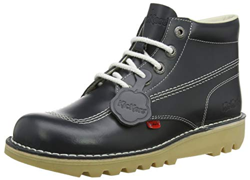 ef222f8d8a33c3 Kickers Mens Kick Hi Core Navy/Natural Leather Boots-UK 8