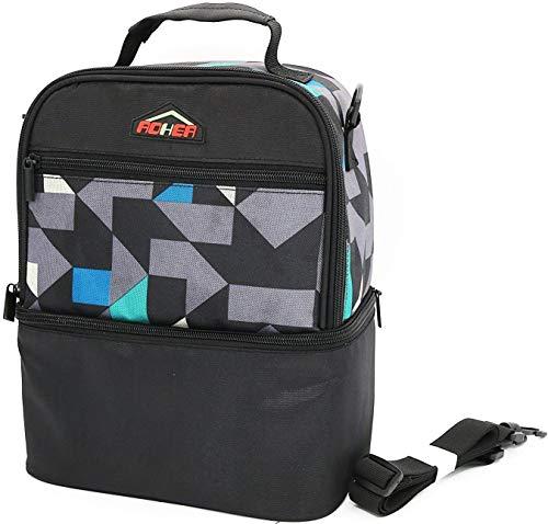Borse frigo fredda da pranzo con tappetino da cucina isolata 2 scomparti con cinturino a spalla regolabile bento box bag per donne uomini bambini