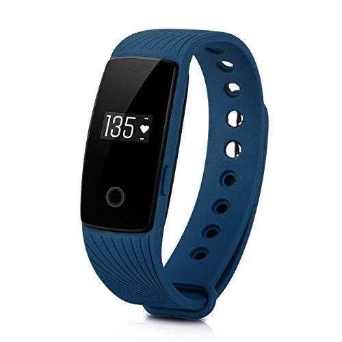 DIGGRO ID107 - Fitness Armband mit Herzfrequenz Sensor (OLED Display, Smart Armband Fitness Tracker mit Pulsmesser Aktivitätstracker Schrittzähler Schlafanalyse Kalorienzähler für ios Android)