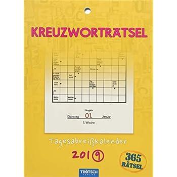 Tageskalender '365 Kreuzworträtsel' 2019 Wandkalender Abreißkalender Rätselkalender