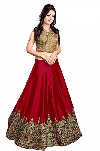 Lengha Choli for women new arrival western party wear semistitched Red lehenga choli by Ladies4Zone