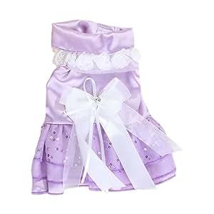 Robe de Mariage Pourpre vêtement pour chien - L