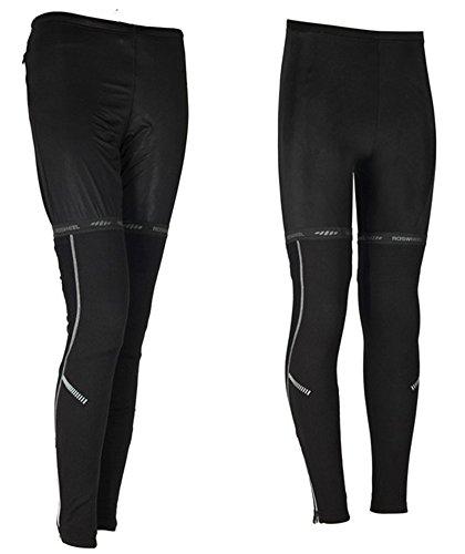 SaySure - Cycling Bike Bicycle Leg Warmer Guard Knee Running Warm Sleeves Covers Black size M - GMN-BG-SPT-000079 (Lace Trim Zebra)