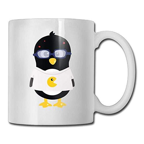 Weiße Kleidung-Pinguin-Kaffeetassen 11 Unze-keramische Tee-Schalen-Kaffeetasse 11oZ das perfekte Geschenk für Familie und Freunde