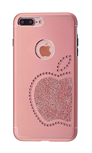 Ishield® for iphone con *51* crystals from swarovski® modello re mela e mela (iphone 8 plus/7 plus re mela, pink)