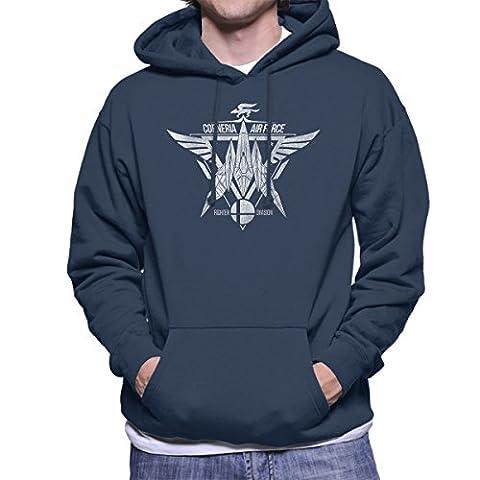 Star Fox Squadron Corneria Air Force Men's Hooded Sweatshirt
