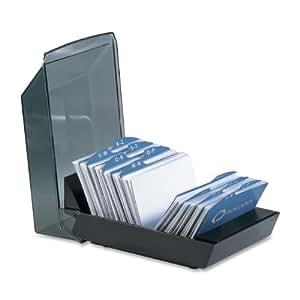 Rolodex Petite boîte de rangement pour cartes de visite Noir