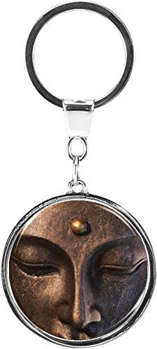 metALUm Schlüsselanhänger aus Metall/Buddhismus/Buddha / 6669006SJ