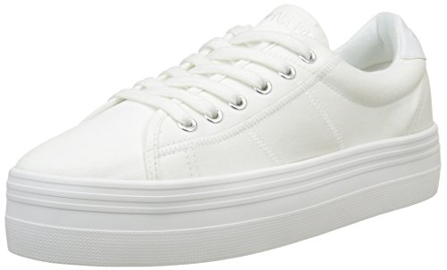No Name Plato, Baskets Basses Femme Blanc (White/White)