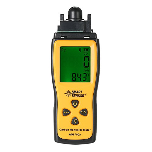 KKmoon Carbón Monóxido Metro Portátil con Alta PrecisiónCoProbador de Gas Monitor DetectorCalibre Lcd MonitorSonar y Ligero Alarma 0-1000 Ppm