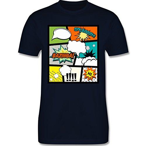 Comic Shirts - Comic Buchseite - Herren Premium T-Shirt Navy Blau