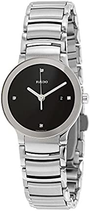 Rado Women's Black Dial Stainless Steel Band Watch - R3092