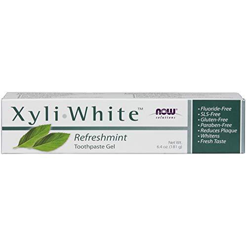 Now Foods Xyliwhite Zahnpasta Gel (Now Foods I XyliWhite Gel I RefreshMint Zahnpasta I Fluoridfrei I Glutenfrei I 181g)