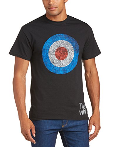 Rock Off - The Who Target Distressed Tee, t-shirt Uomo, Nero (Black), XX-Large
