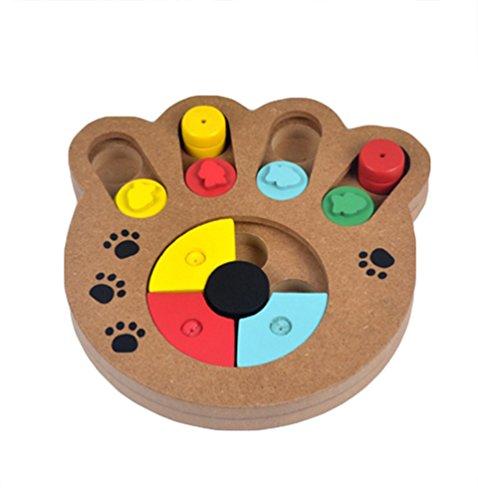 YOUJIA Hund Spiel Hölzerne Strategiespiel für Hunde Schüssel Pädagogische interaktive Hund Spielzeug (Pfote geformt)